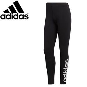 Women's Back Essentials Linear Tights by Adidas